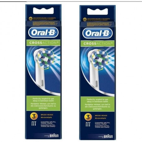 PACK 2 x Oral-B Brossettes de rechange x 3 CrossAction