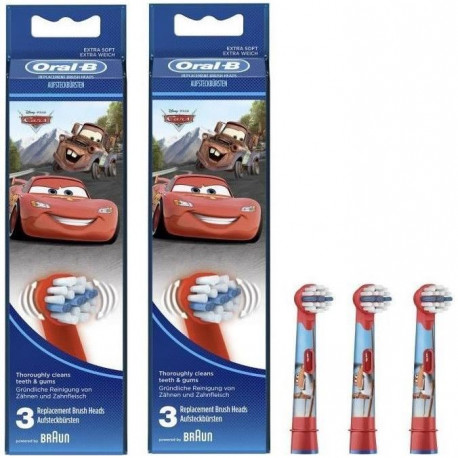 PACK 2 x Oral-B Stages Power 3 brossettes de rechange avec personnages Disney