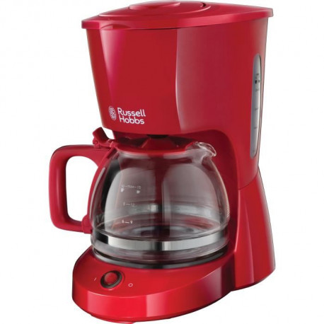 RUSSELL HOBBS 22611-56 - Cafetiere Textures - 10 tasses - 975 W - Rouge