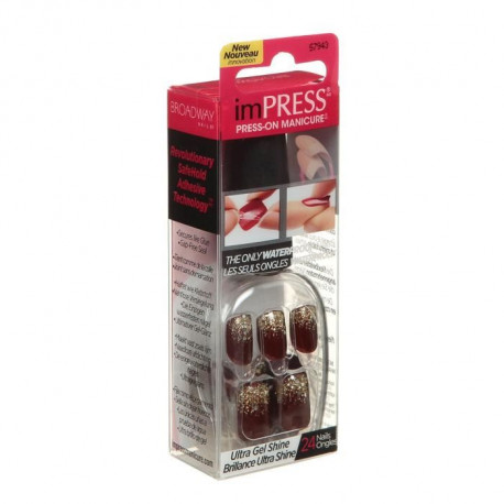IMPRESS Faux Ongles Manucure Instantanée Night Fever