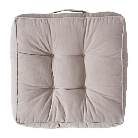 TODAY Coussin de sol SOFTY - 45x45x12cm - Beige