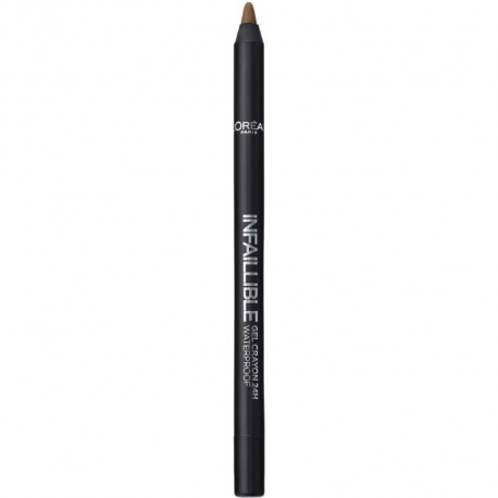 L'OREAL PARIS Gel crayon yeux Make up designer infaillible - Résistant a l'eau 03 Browny Crush