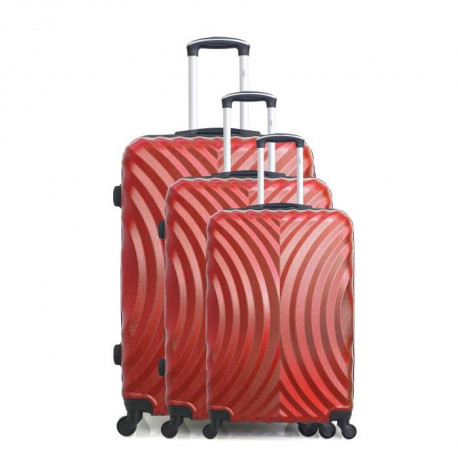 HERO Set de 3 Valises LAGOS Rouge