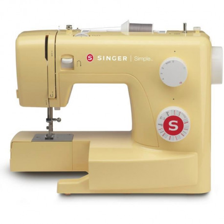 SINGER Machine a coudre Simple 3223 - 70 W - 23 programmes - Jaune