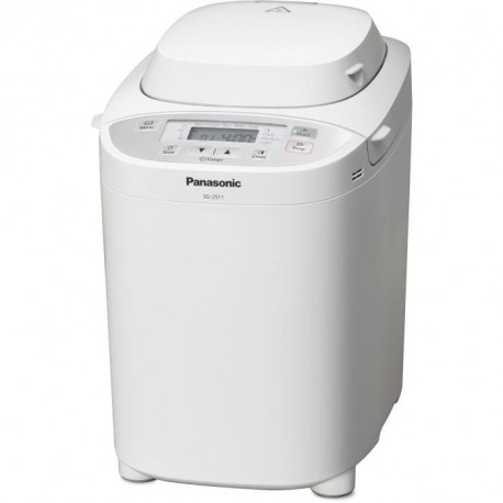 PANASONIC SD2511WXE Machine a pain - 230 V - Distributeur de fruits secs et graines - 3 tailles de pain - Blanc
