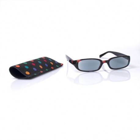 Lunettes grossissantes VITAEASY monture pois couleur verres solaire - Dioptrie X2.5 - UV400