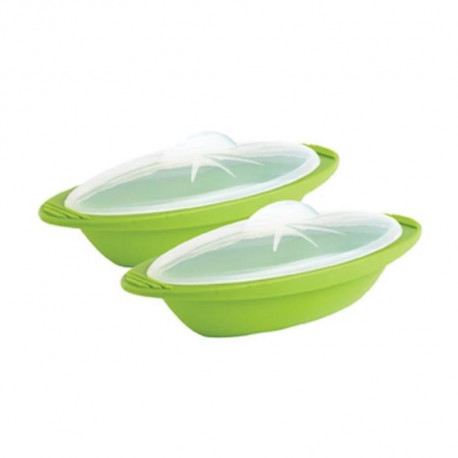 MASTRAD F68465 Coffret taille légume + papillote - Silicone sans BPA - Vert