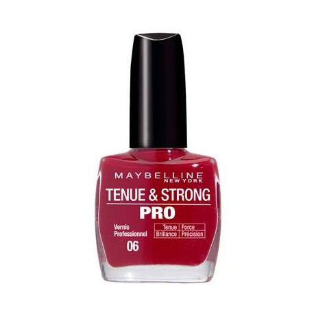 GEMEY MABELLINE Vernis Tenue & Strong Pro - Rouge