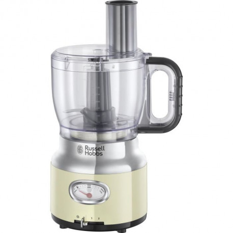RUSSELL HOBBS 25182-56 - Robot multifonction Retro - 850 W - Creme