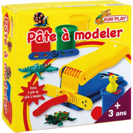 KIM'PLAY Machine pâte a modeler + 2 Pots