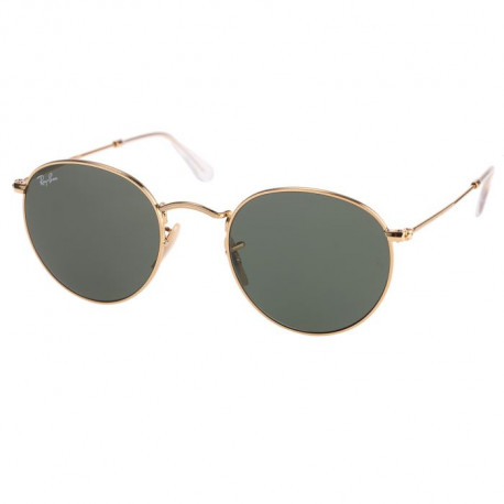 Ray-Ban RB3447 001 Round Metal