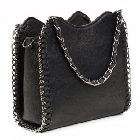 KINSTON - Mini Sac Main REBEL HEART Noir