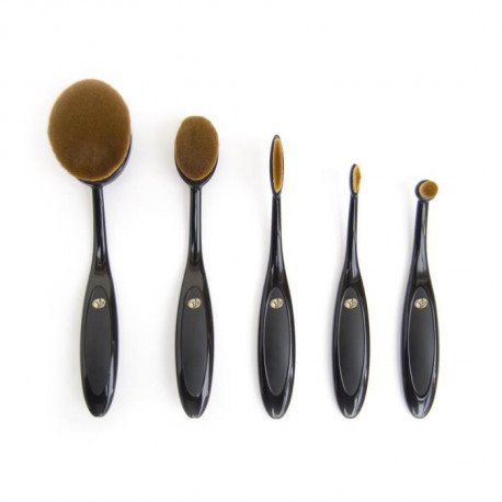 RIO Set de pinceaux Visage oval 5 pieces