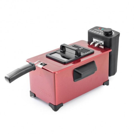 KITCHEN C-FR3030_INOX_RED - Friteuse Semi-Pro - 2000W - 3L - Cuve Ino - Rouge
