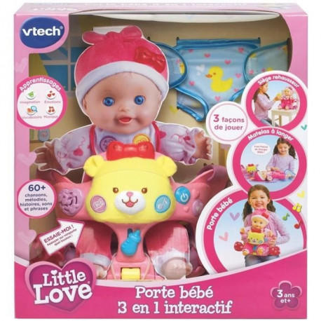 VTECH Little Love - Porte-Bebe 3 En 1 Interactif