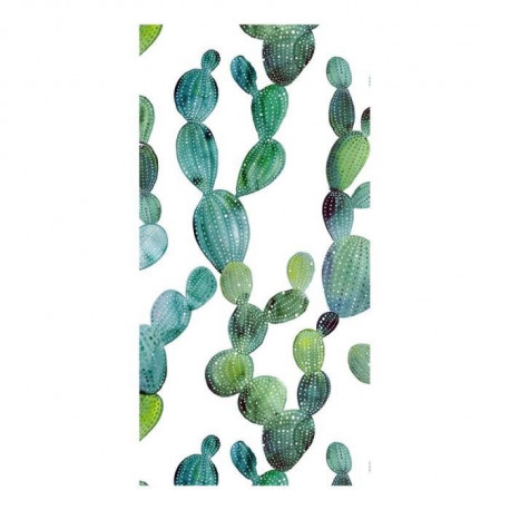 GOOD MORNING Serviette de plage Cactus - 100 x 180 cm