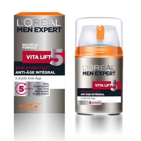 MEN EXPERT - Vitalift Homme Soin Hydratant Anti-âge Global - 50 ml