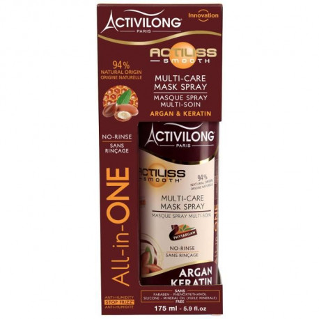 ACTIVILONG Masque spray multi-soin Actiliss Smooth - Argan et kératine - 175 ml