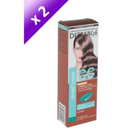 Lot de 2 DESSANGE Réveil'Color Soin Patine Correction Couleur