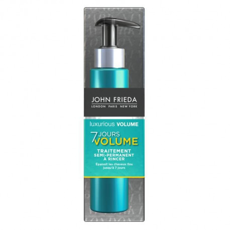 JOHN FRIEDA Traitement semi-permanent a rincer Luxurious Volume 7 Jours - 100 ml
