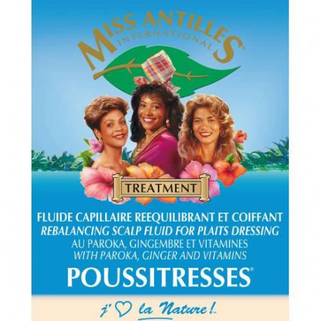 Miss Antilles International Fluide Capillaire Reequilibrant et Coiffant Poussitresses