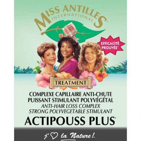 Miss Antilles International Complexe Capillaire Anti-Chute Puissant Stimulant Polyvegetal Actipouss Plus
