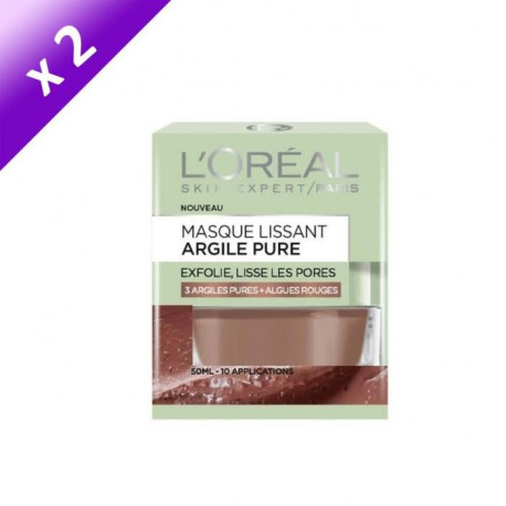 DERMO EXPERTISE Masque lissant argile pure - 50 ml x2