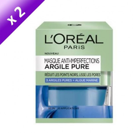 DERMO EXPERTISE Masque anti-imperfection argile pure - 50 ml x2