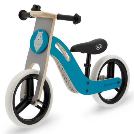 Kinderkraft Vélo Draisienne en bois UNIQ - 12 pouces - a partir de 2 ans - Couleur Menthe
