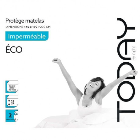 TODAY Protege Matelas / Alese Imperméable Eco 140x190/200cm - 100% Polyester