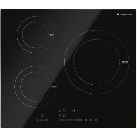 CONTINENTAL EDISON Table de cuisson induction 3 foyers 7000W