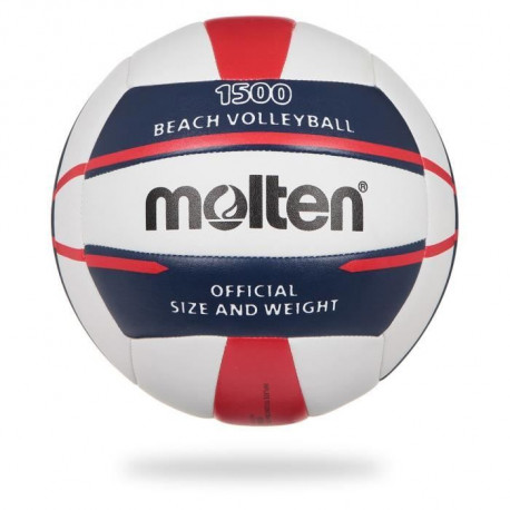 MOLTEN Ballon de Beach-Volley - Blanc, Bleu et Rouge