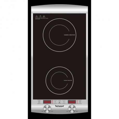 TECHWOOD TPID-229 - Double plaque de cuisson a induction - 1300 W + 1600 W - LED