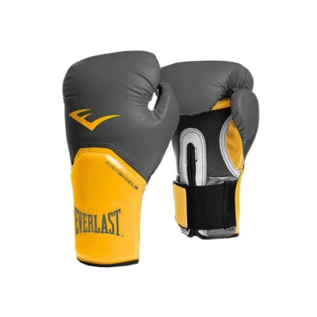EVERLAST Gants de boxe Pro Style Elite - Avec velcro - Gris et orange - 10 Oz