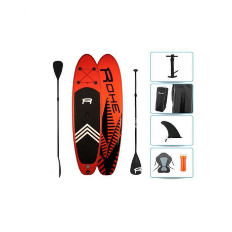 ROHE Pack Paddle Kayak Gonflable Keai 325x76x15cm + siege amovible + pagaie double