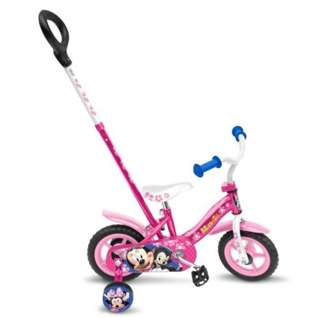 DISNEY MINNIE Vélo 10 pignon fixe et canne