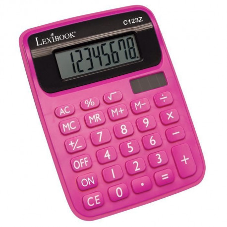 LEXIBOOK - Calculatrice Semi Desktop - Rose