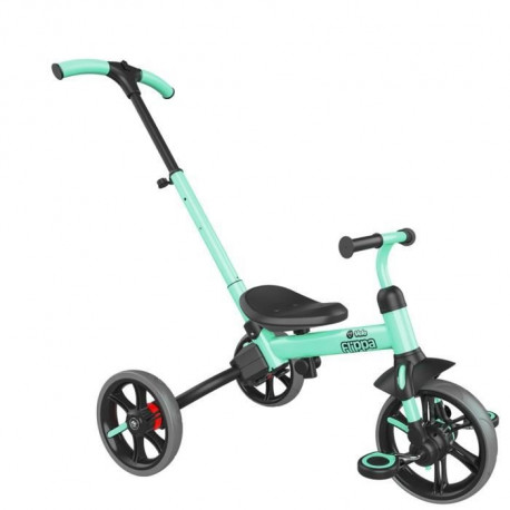 YVOLUTION Tricycle-draisienne évolutive Yvelo Flippa - Vert