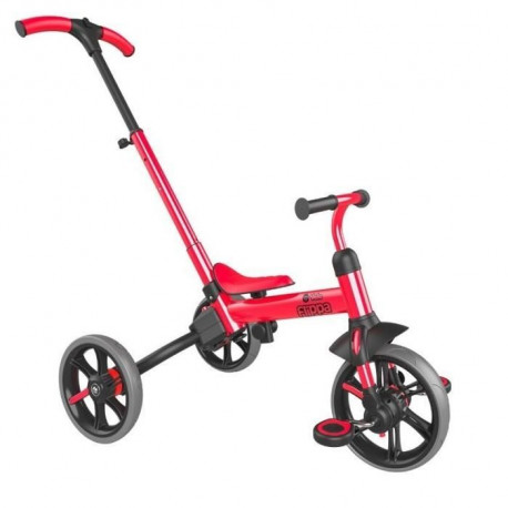 YVOLUTION Tricycle-draisienne évolutive Yvelo Flippa - Rouge