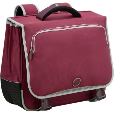 DELSEY Cartable 38 cm 2 soufflets - Framboise - Polyester - 34,5x38,5x16 - 900 gr