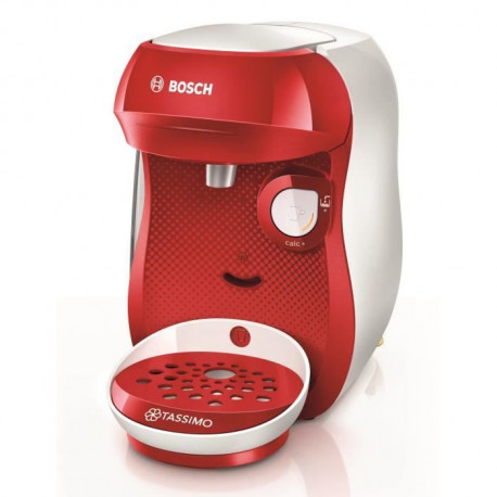 BOSH Machine a Café Tassimo Happy  TAS106 - Multi boissons - Rouge & Blanc