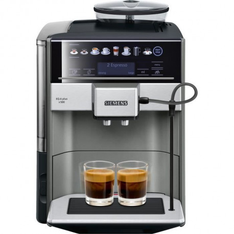 SIEMENS TE655203RW Machine a café expresso entierement automatique EQ6 plus S500 - Anthracite
