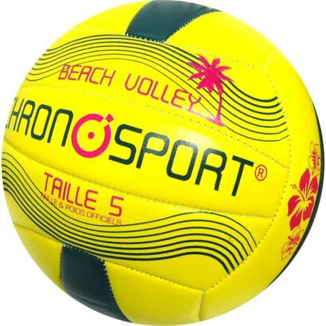 CHRONOSPORT Ballon Beach Volley Pvc T5 Jaune