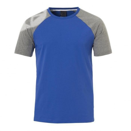 KEMPA T-Shirt Handball Fly High Homme Bleu roi et gris chiné
