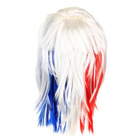 Perruque Lisse Supporter France