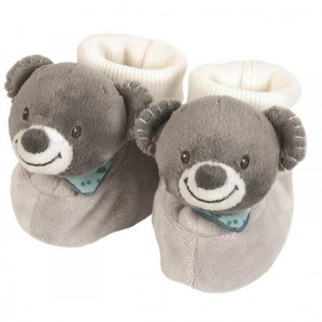 NATTOU Petits chaussons hochets Jules l'ours