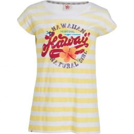 UP2GLIDE T-shirt Camie fille - Jaune / Blanc