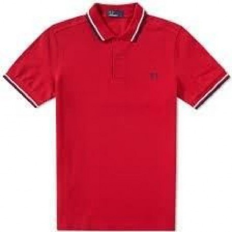 FRED PERRY Polo Homme Rouge
