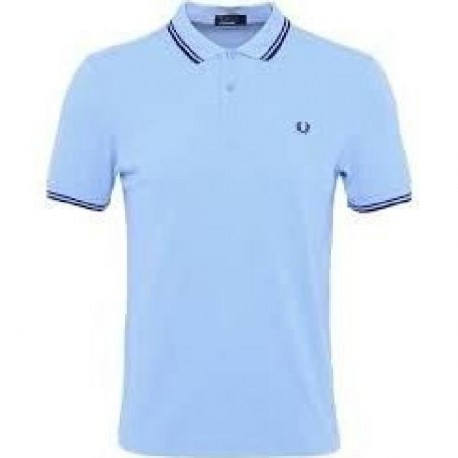FRED PERRY Polo Homme Bleu ciel