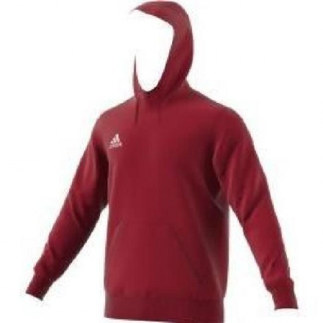 ADIDAS Sweat a capuche Core Rouge / Blanc